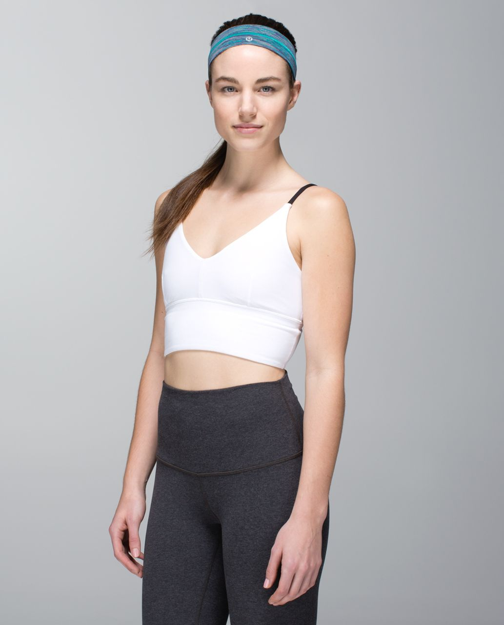 Lululemon Fly Away Tamer Headband - Wee Are From Space Blue Tropics