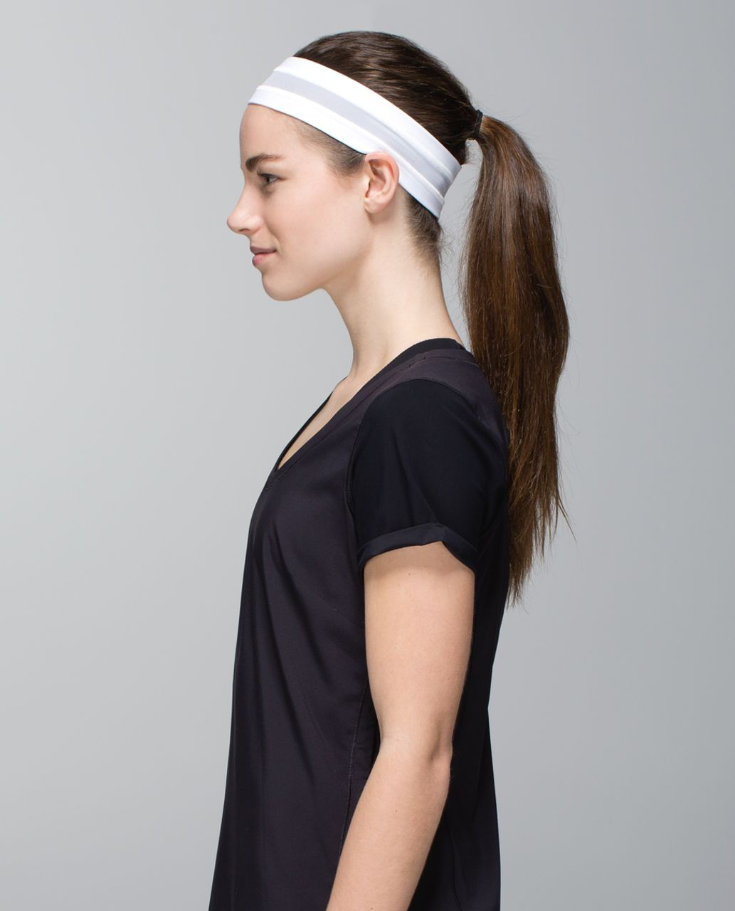 Lululemon Fly Away Tamer Headband *Mesh - White