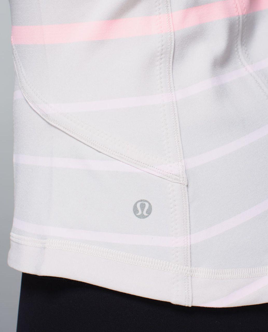 Lululemon Forme Jacket *Cuffins - Pop Stripe Heathered Dune / Barely Pink