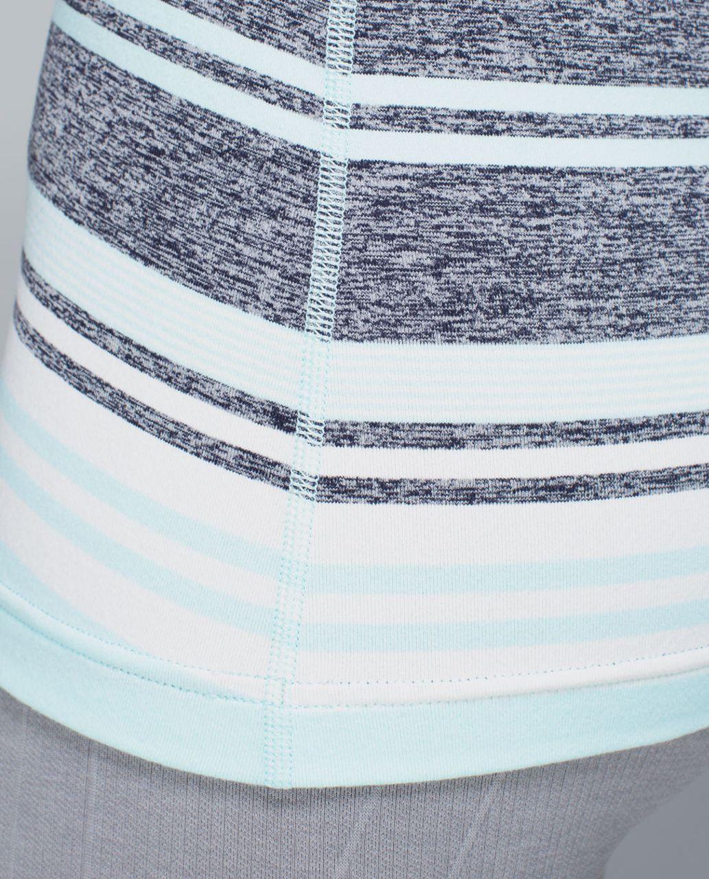 Lululemon Cool Racerback - Groovy Stripe Static Wave Cadet Blue