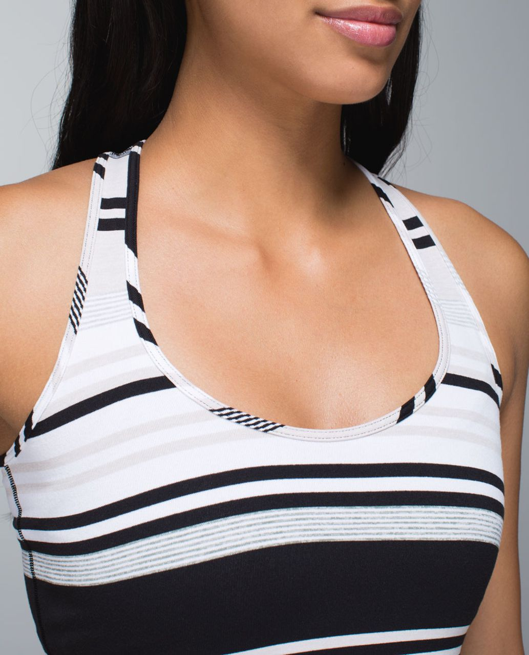 Lululemon Cool Racerback - Groovy Stripe Static Wave Dune