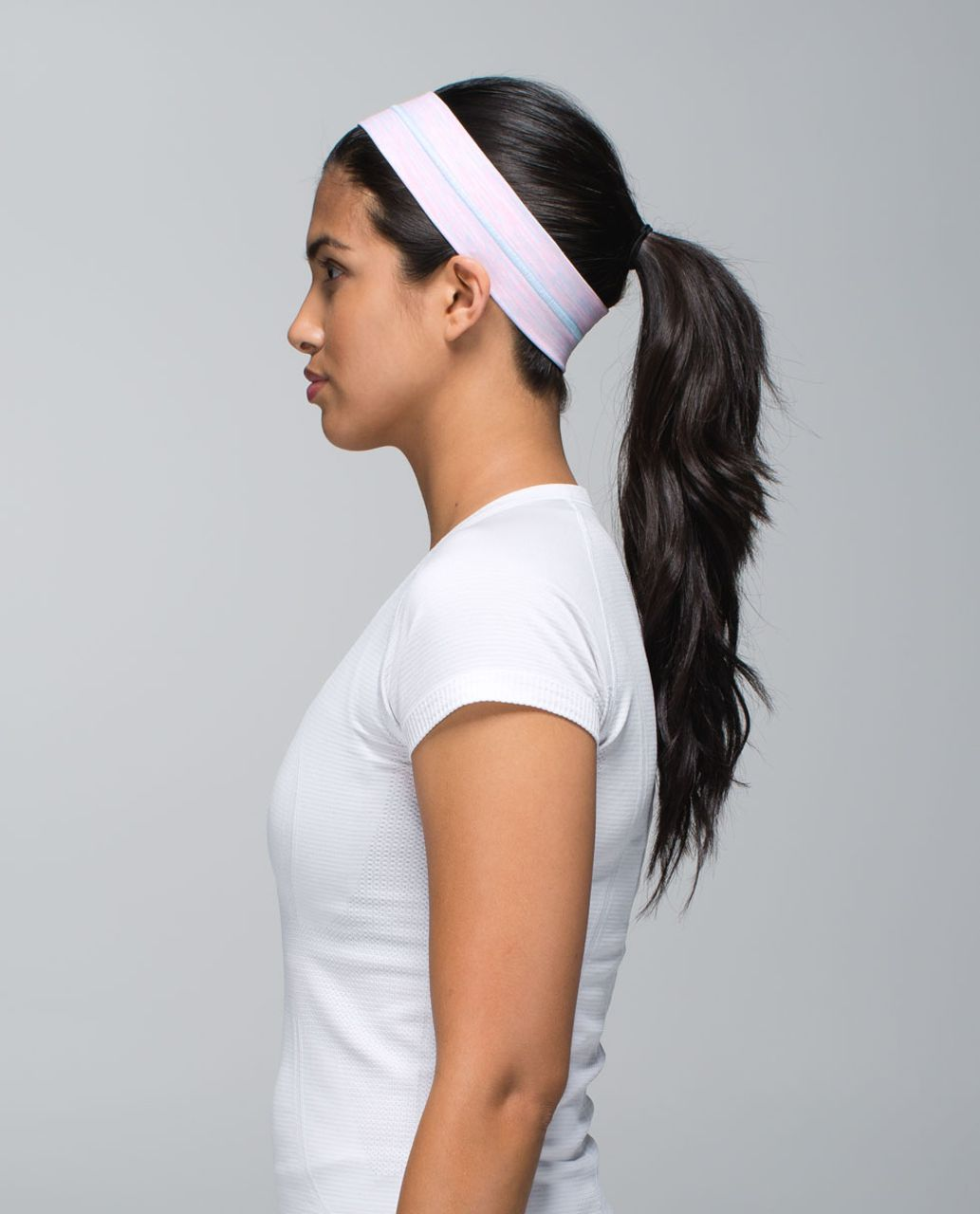 Lululemon Fly Away Tamer Headband - Wee Are From Space White Barely Pink