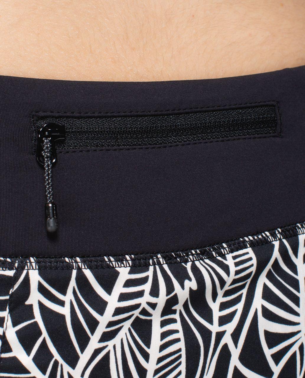 Lululemon Pace Rival Skirt *2-way Stretch (Regular) - Pretty Palm Black Angel Wing / Black