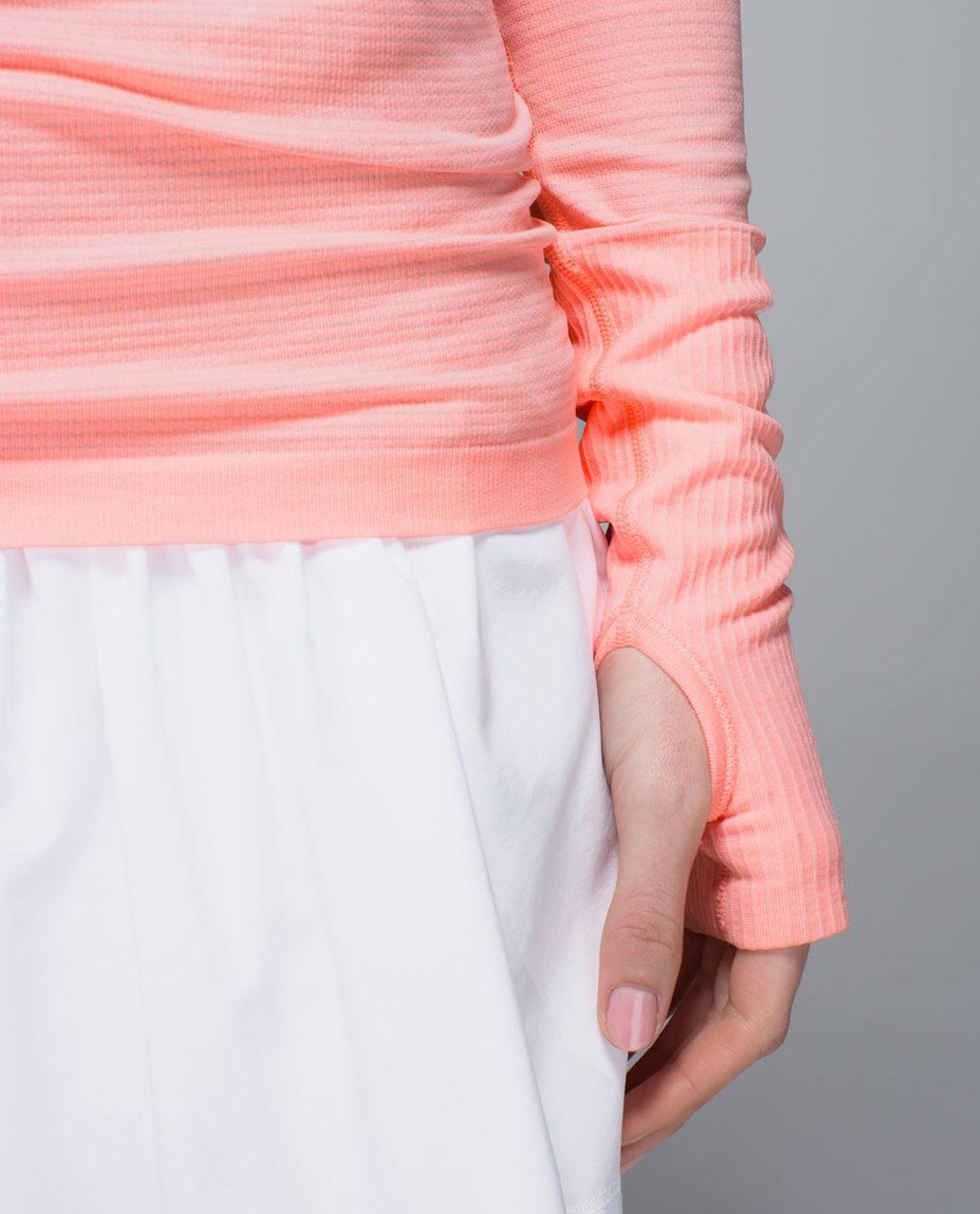 Lululemon Run:  Swiftly Tech Long Sleeve Scoop - Bleached Coral