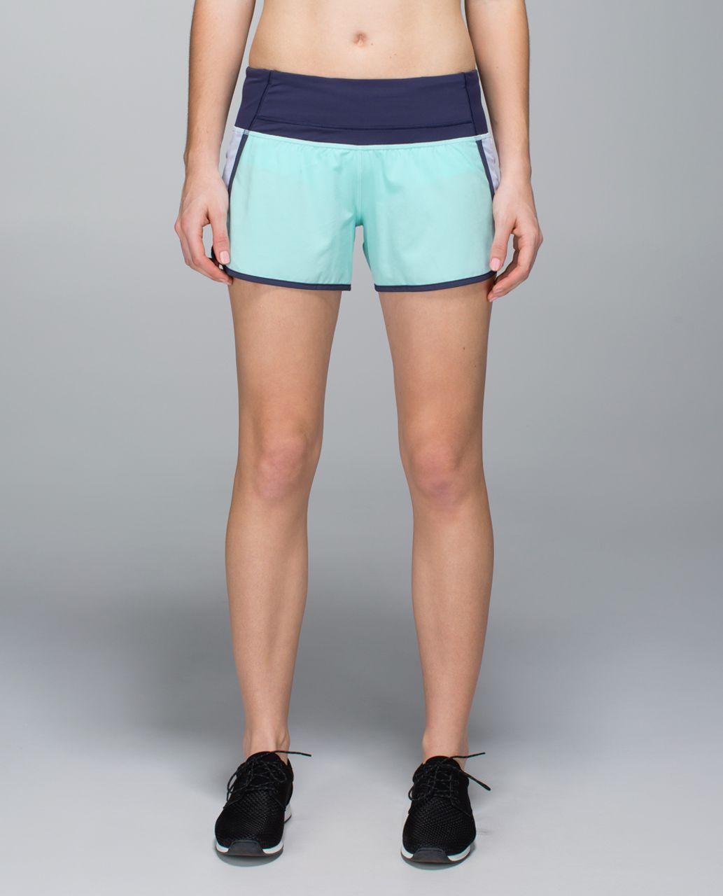 Lululemon Run Times Short *4-way stretch - Aquamarine / Cool Breeze / Cadet Blue