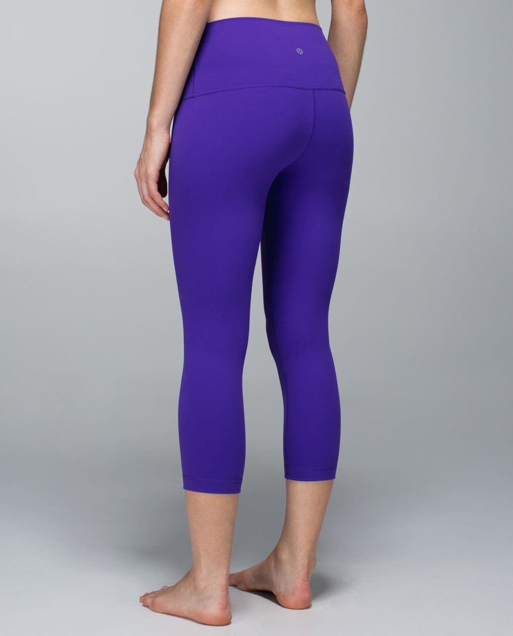 Lululemon Wunder Under Crop *Full-On Luon (Roll Down) - Bruised Berry