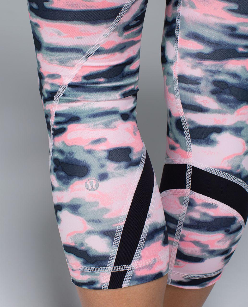 Lululemon Run:  Inspire Crop II *All Luxtreme - Wamo Camo Barely Pink / Black