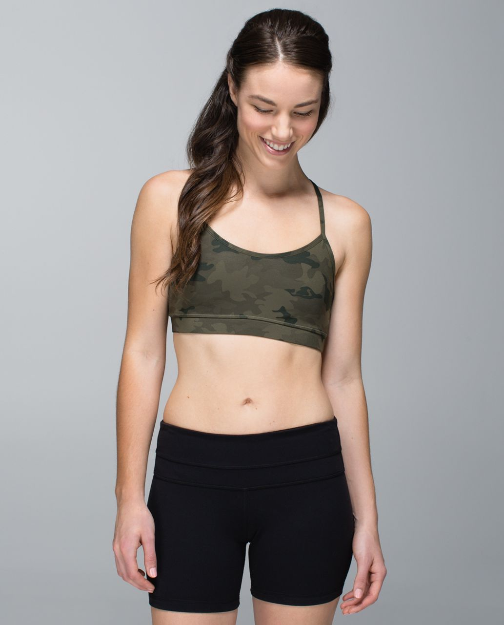 a823028994 Lululemon Flow Y Bra IV - Savasana Camo 20cm Fatigue Green - lulu ...