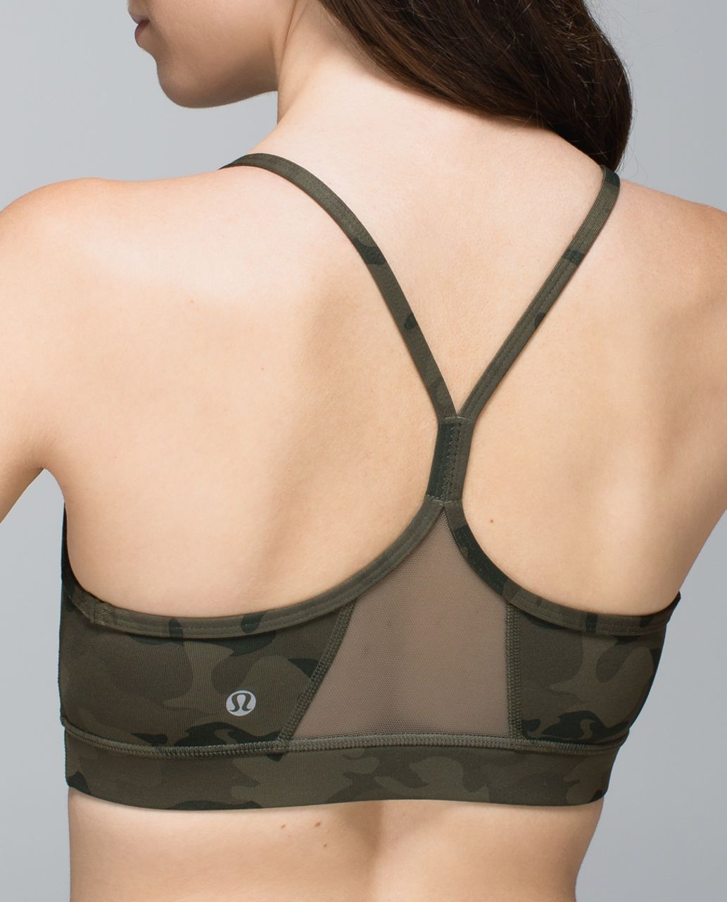 fd57daafb8 Lululemon Flow Y Bra IV - Savasana Camo 20cm Fatigue Green - lulu fanatics