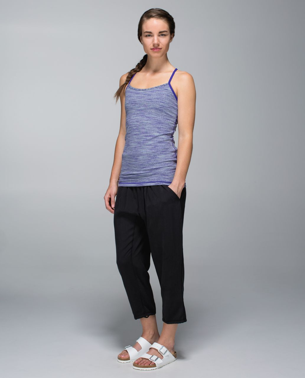 Lululemon Power Y Tank *Luon - Wee Are From Space Brusied Berry / Bruised Berry
