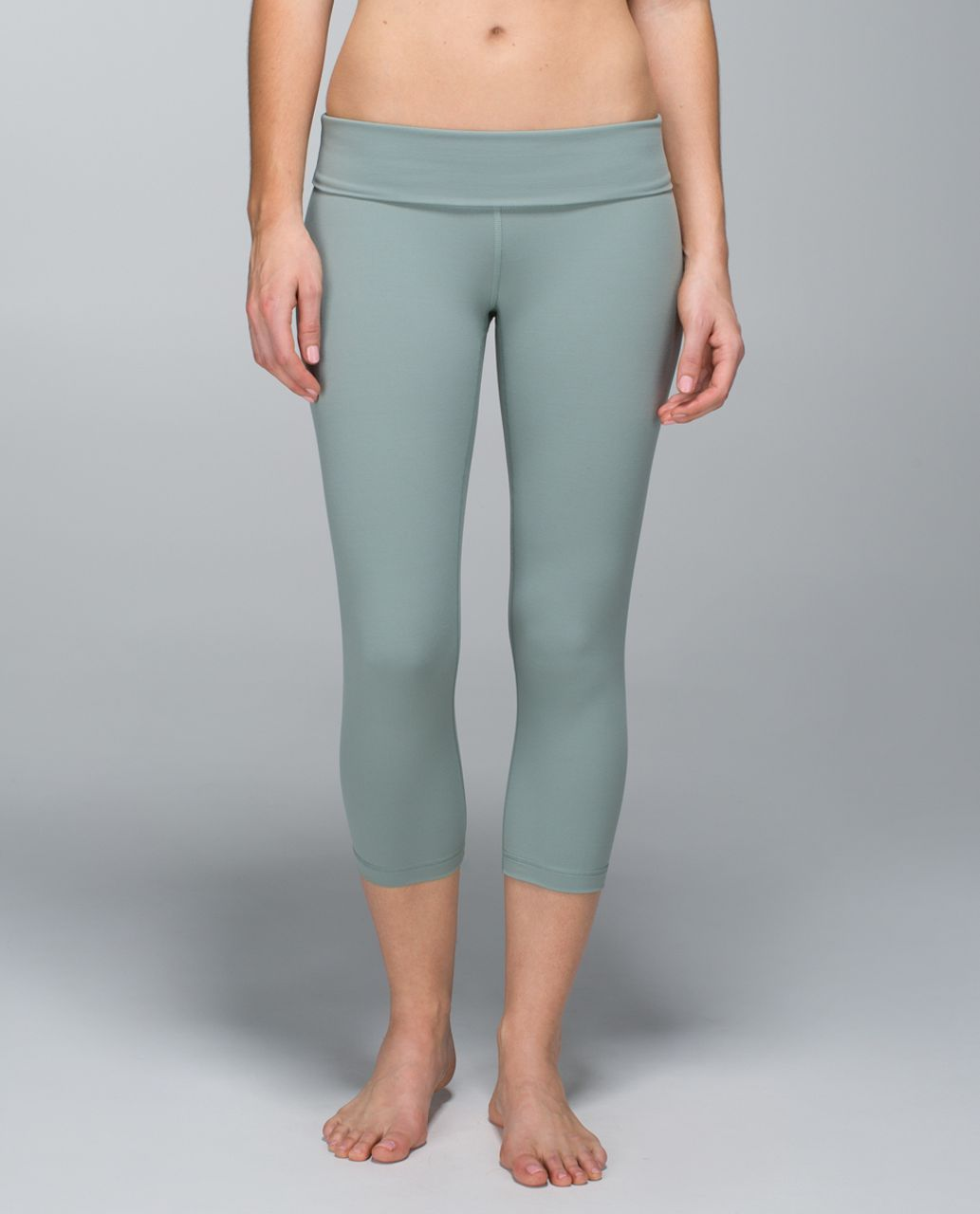 Lululemon Wunder Under Crop *Full-On Luon (Roll Down) - Earl Grey