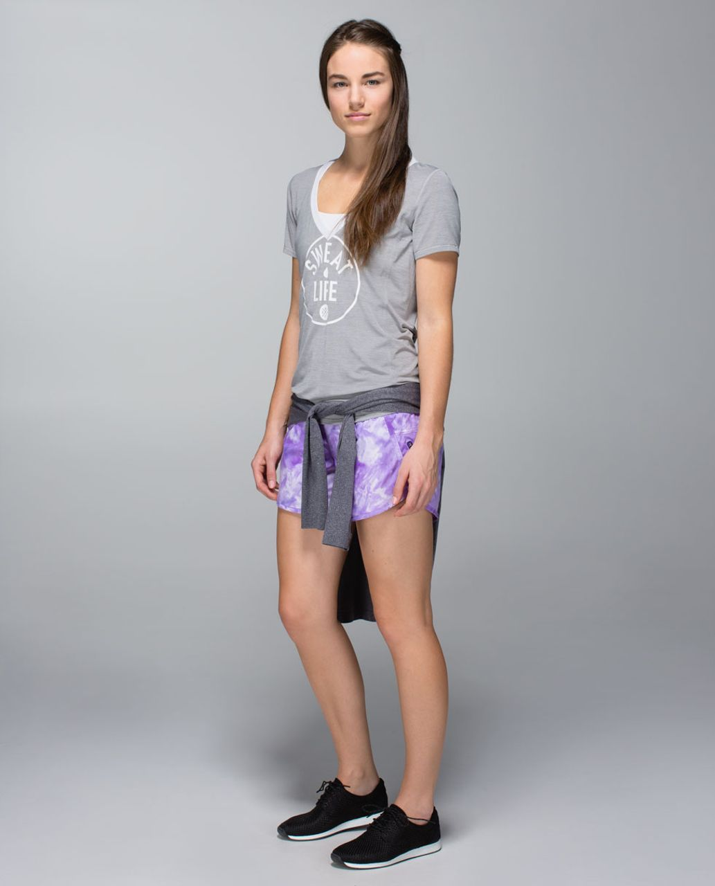 Lululemon Tracker Short II *2-way Stretch - Spray Dye Cool Breeze Bruised Berry / Bruised Berry