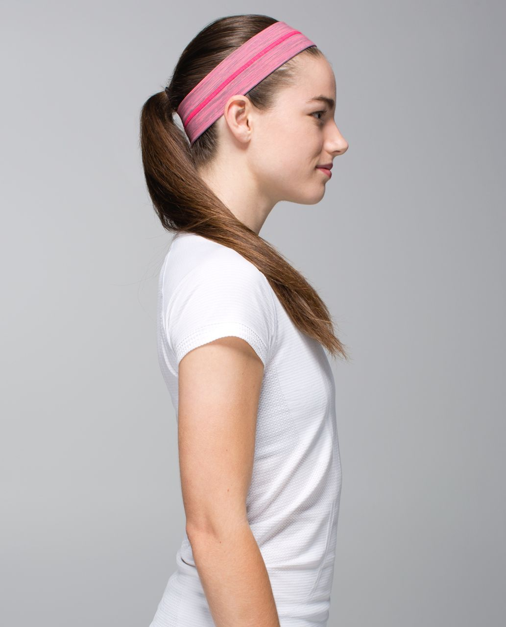 Lululemon Fly Away Tamer Headband - Wee Are From Space Neon Pink Opal