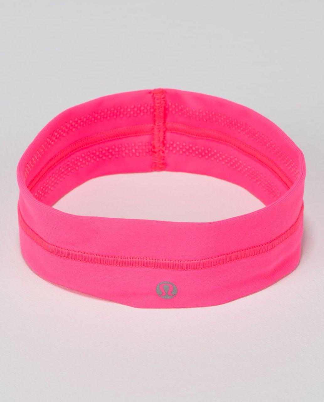 Lululemon Fly Away Tamer Headband - Neon Pink