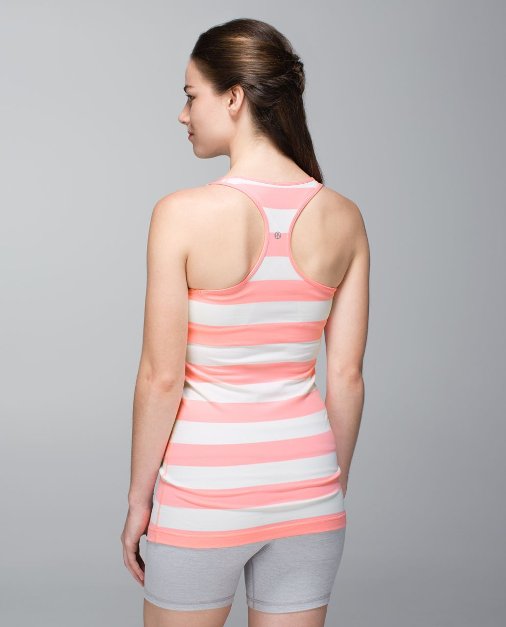 Lululemon Cool Racerback - Steep Stripe Bleached Coral Horizontal / Bleached Coral