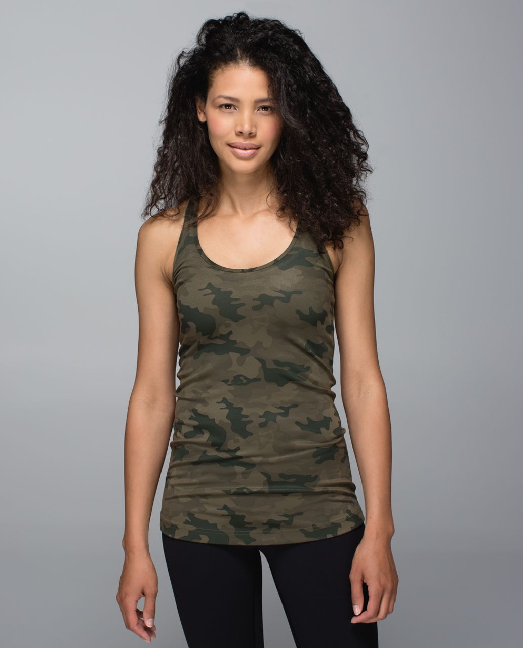 Lululemon Cool Racerback - Savasana Camo 20cm Fatigue Green