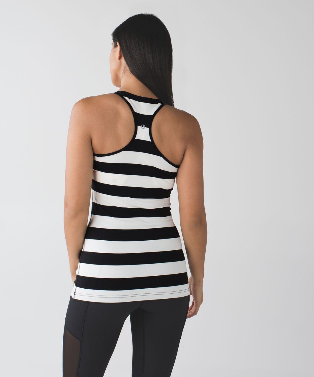 Lululemon Cool Racerback - Steep Stripe Black Horizontal
