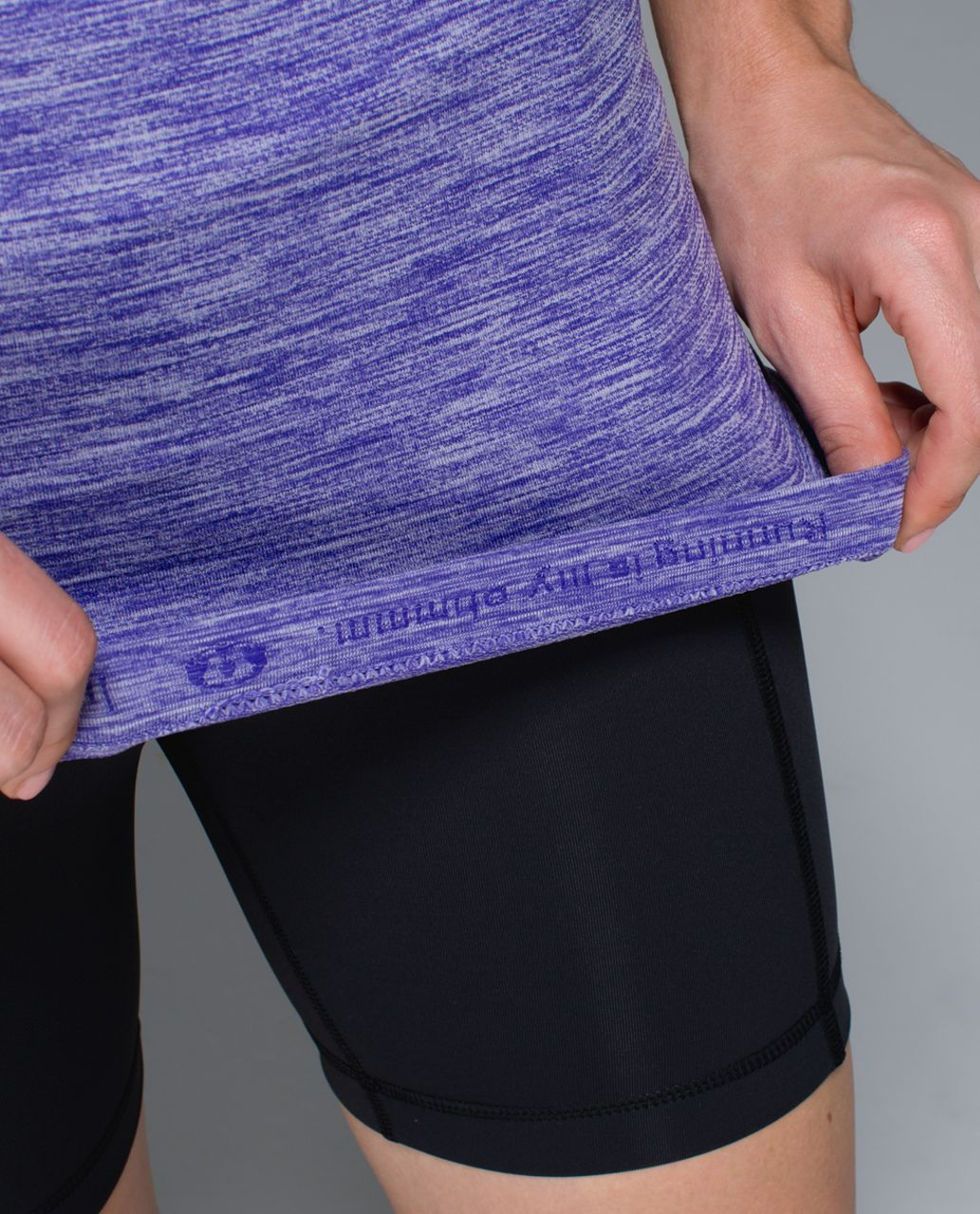 Lululemon Run:  Swiftly Tech Short Sleeve Scoop - Heathered Bruised Berry