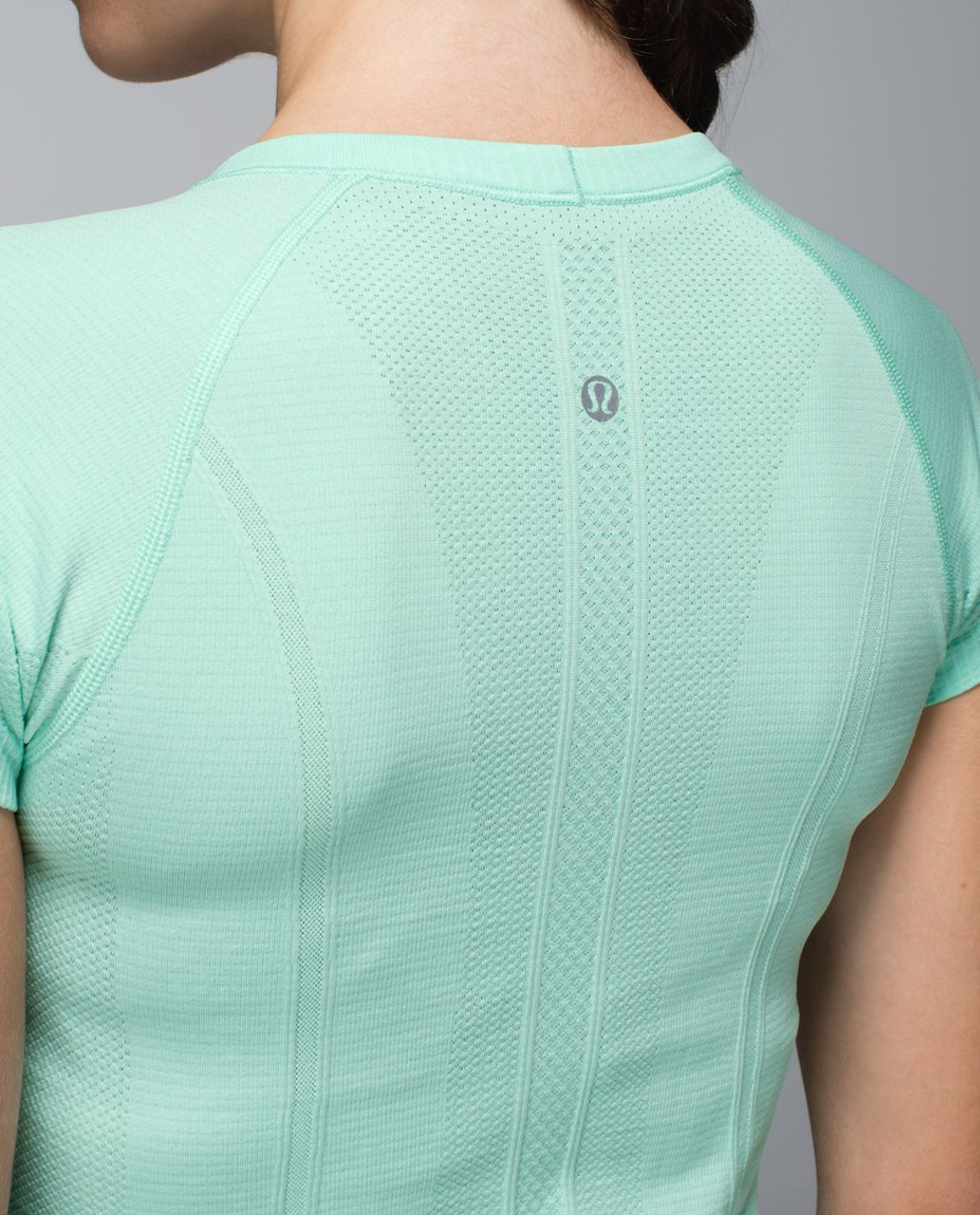 Lululemon Run:  Swiftly Tech Short Sleeve Scoop - Heathered Opal