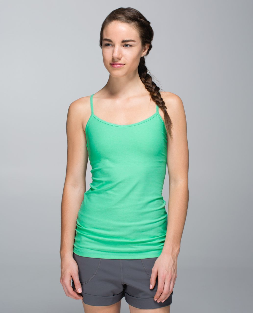 Lululemon Power Y Tank *Luon - Heathered Opal