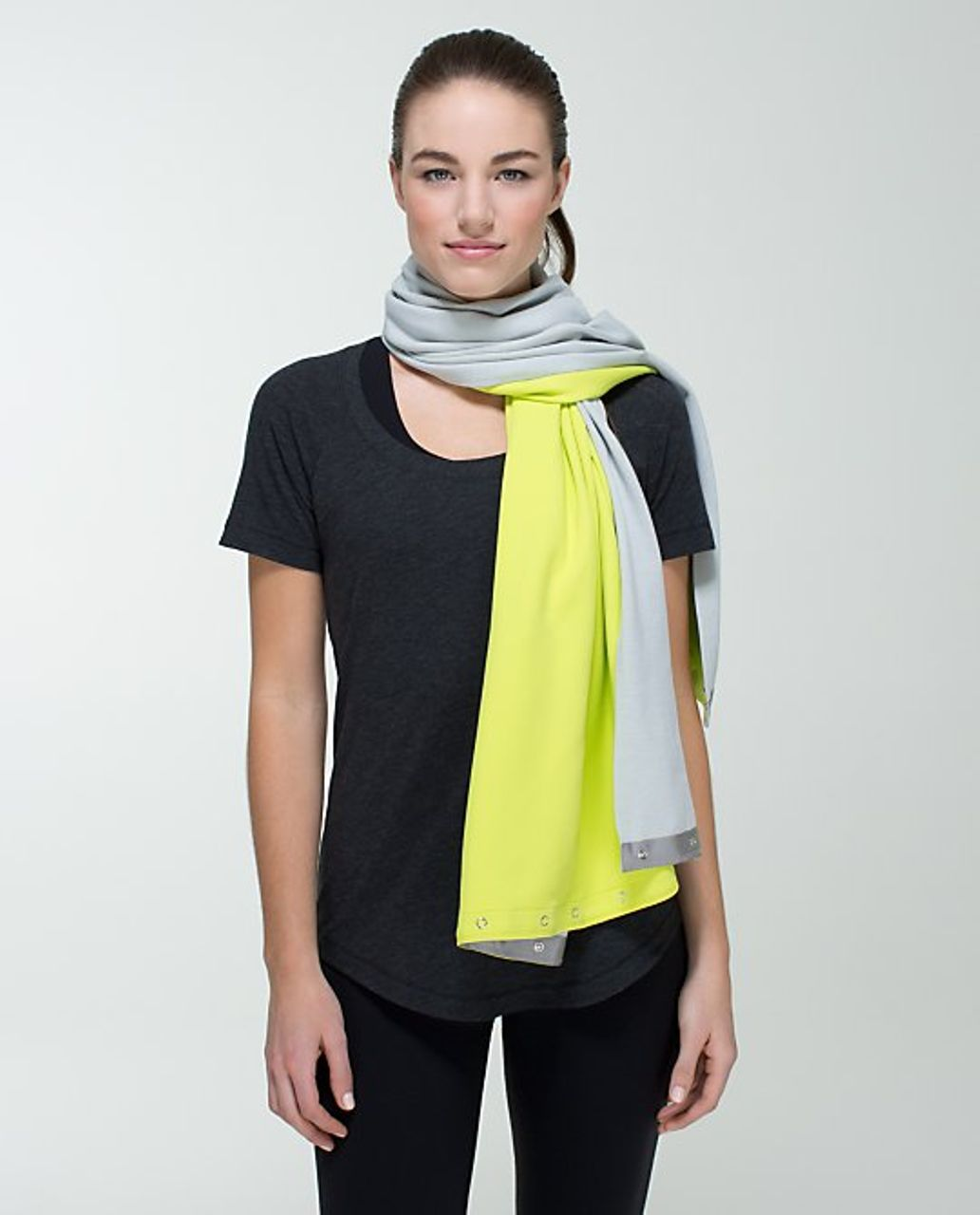 Lululemon Vinyasa Scarf *Rulu - Antidote / Heathered Light Grey