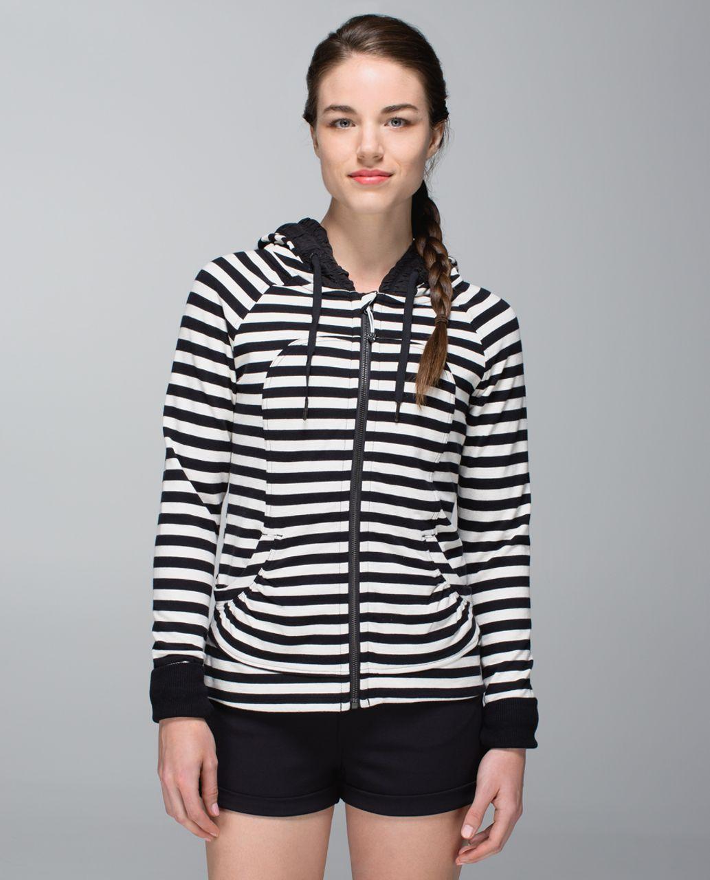 60acce08d6 Lululemon Movement Jacket - Apex Stripe Black Heathered Angel White / Black  - lulu fanatics