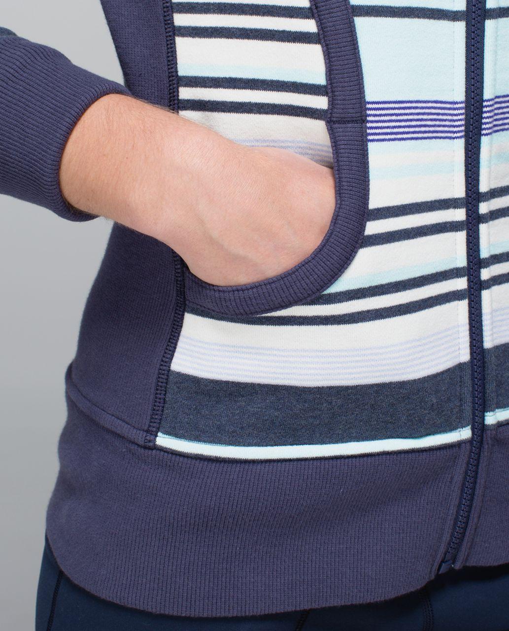 Lululemon Scuba Hoodie II - Groovy Stripe Heathered Cadet Blue / Aquamarine / Cadet Blue