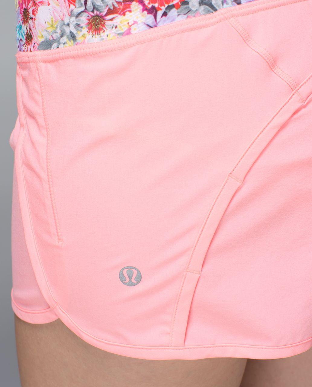 Lululemon Run Times Short *4-way stretch - Bleached Coral / Neon Pink / Flowabunga Mini Multi