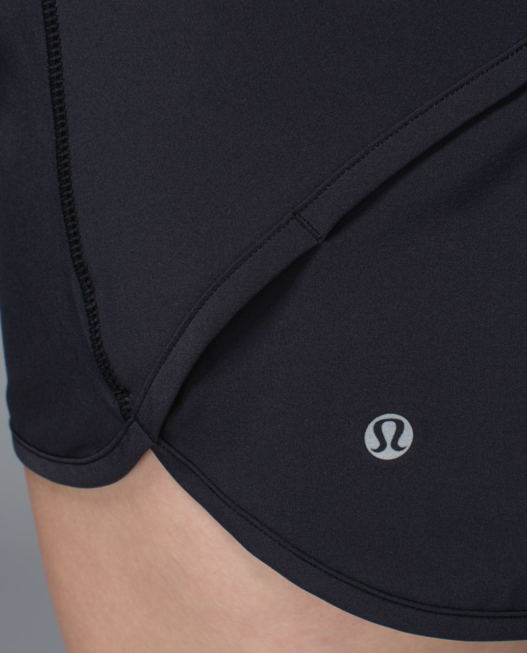 Lululemon Run:  Speed Short *4-way Stretch - Black / Su14 Quilt 31