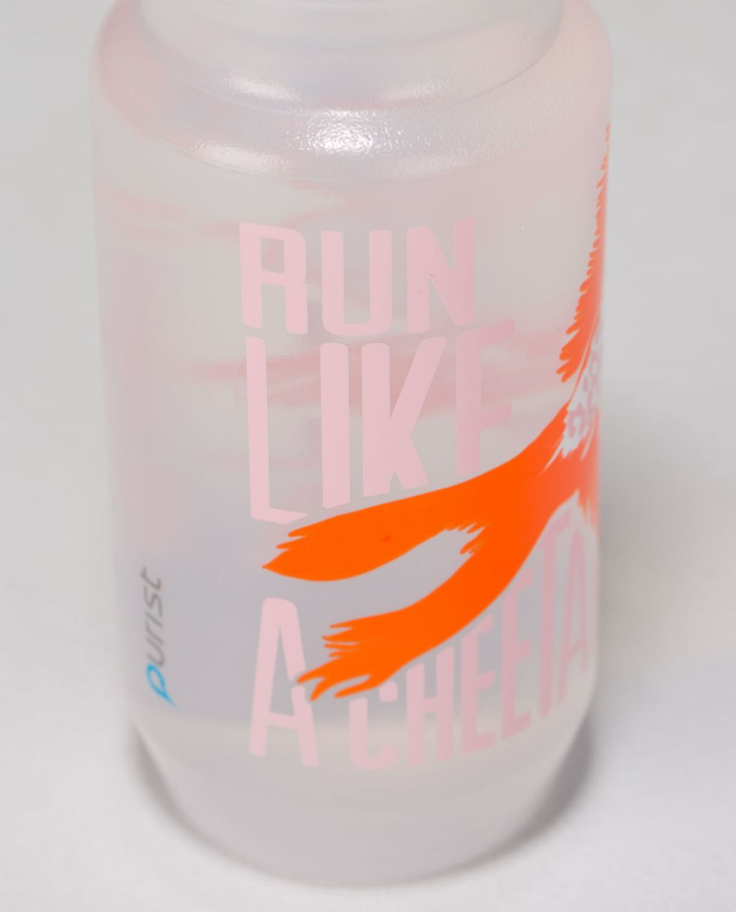 Lululemon Purist Cycling Water Bottle II - Run Like A Cheetah Bleached Coral