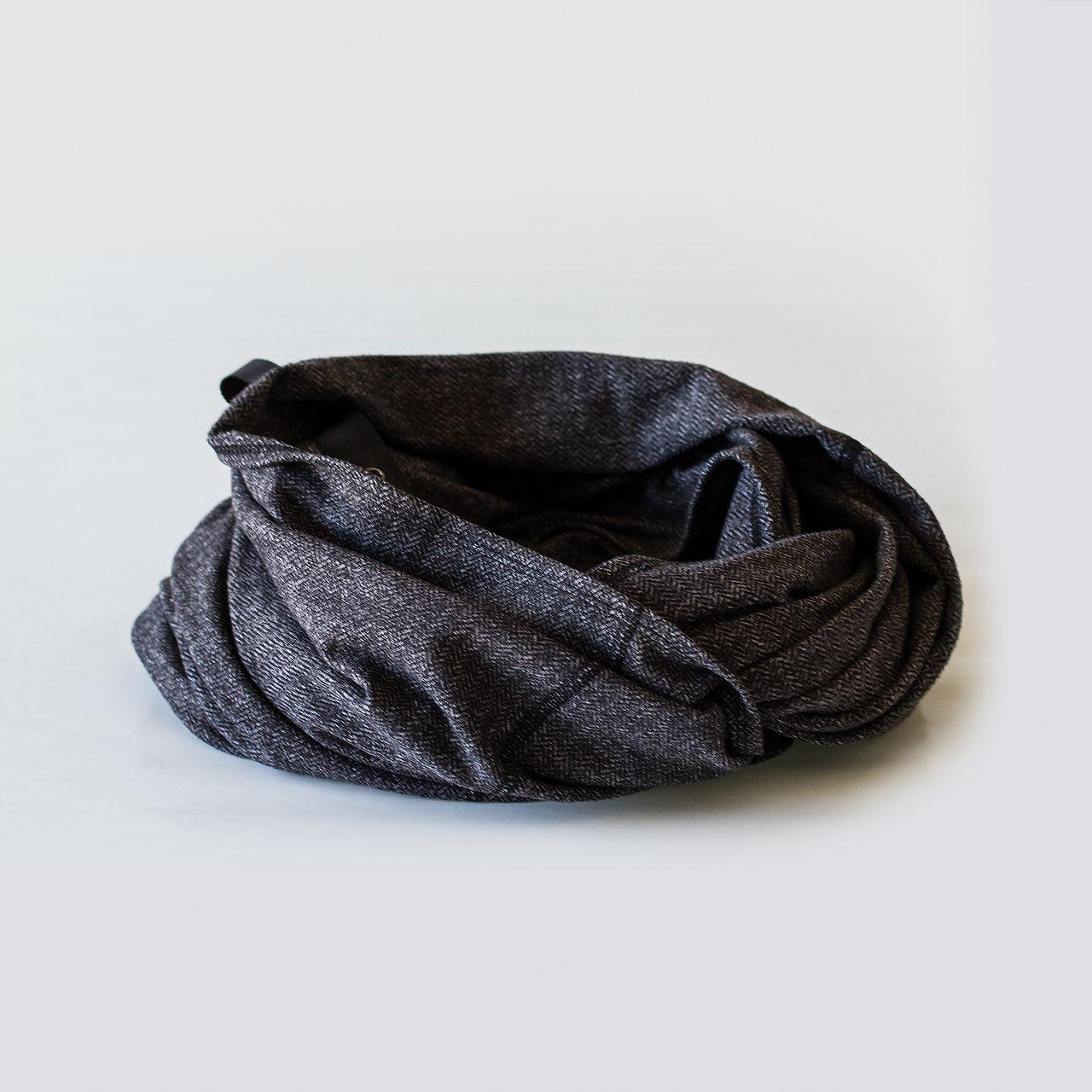 Lululemon Vinyasa Scarf - Black Herringbone