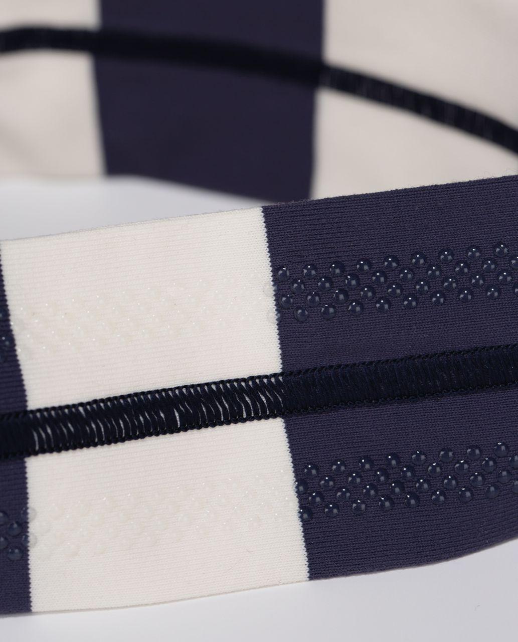 Lululemon Fly Away Tamer Headband - Steep Stripe Cadet Blue Horizontal