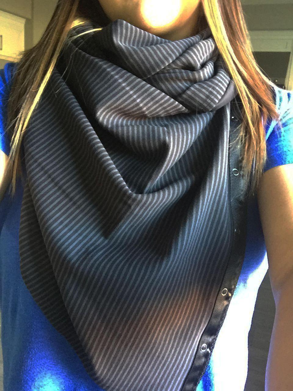 Lululemon Vinyasa Scarf *Rulu - Hyper Stripe Black Soot / Black