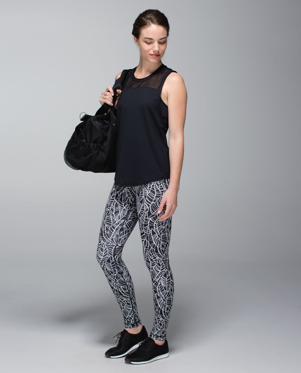 Lululemon Wunder Under Pant *Full-On Luxtreme (Roll Down) - Pretty Palm Black Angel Wing