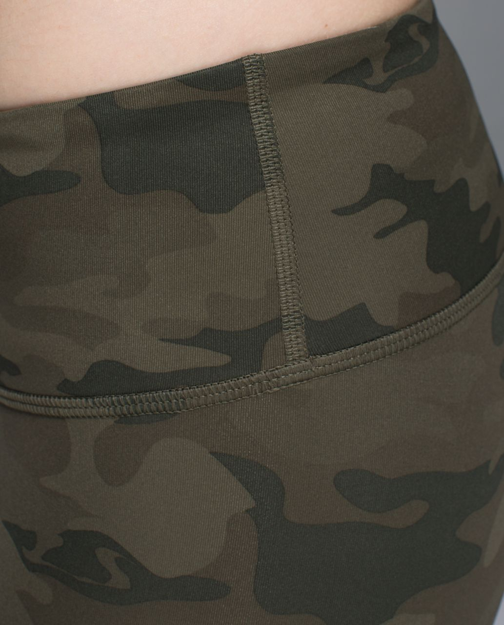 Lululemon Wunder Under Crop *Full-On Luxtreme - Savasana Camo 20cm Fatigue Green