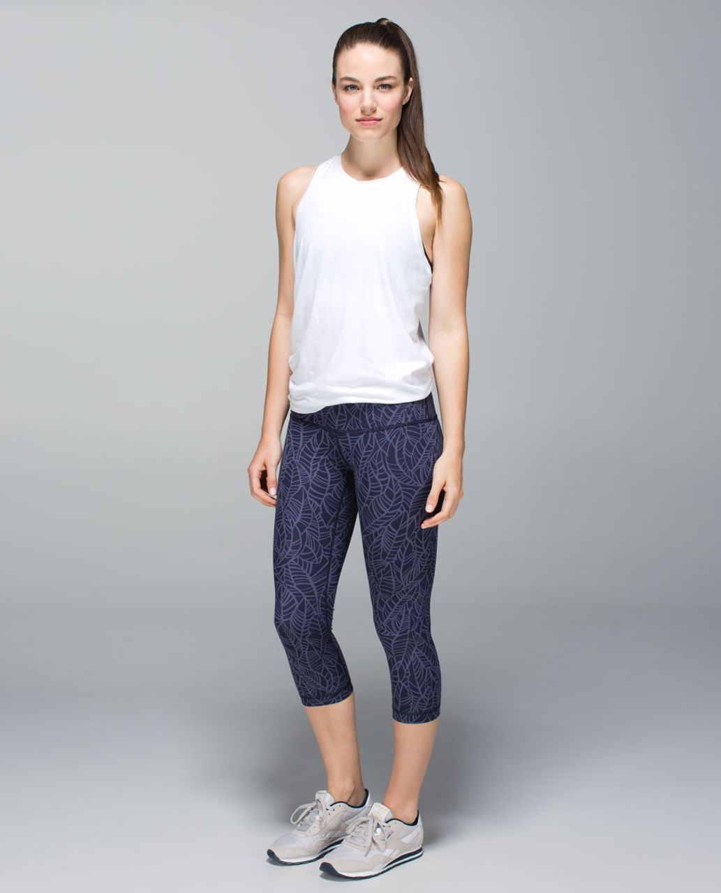 Lululemon Wunder Under Crop *Full-On Luxtreme - Pretty Palm Cadet Greyvy