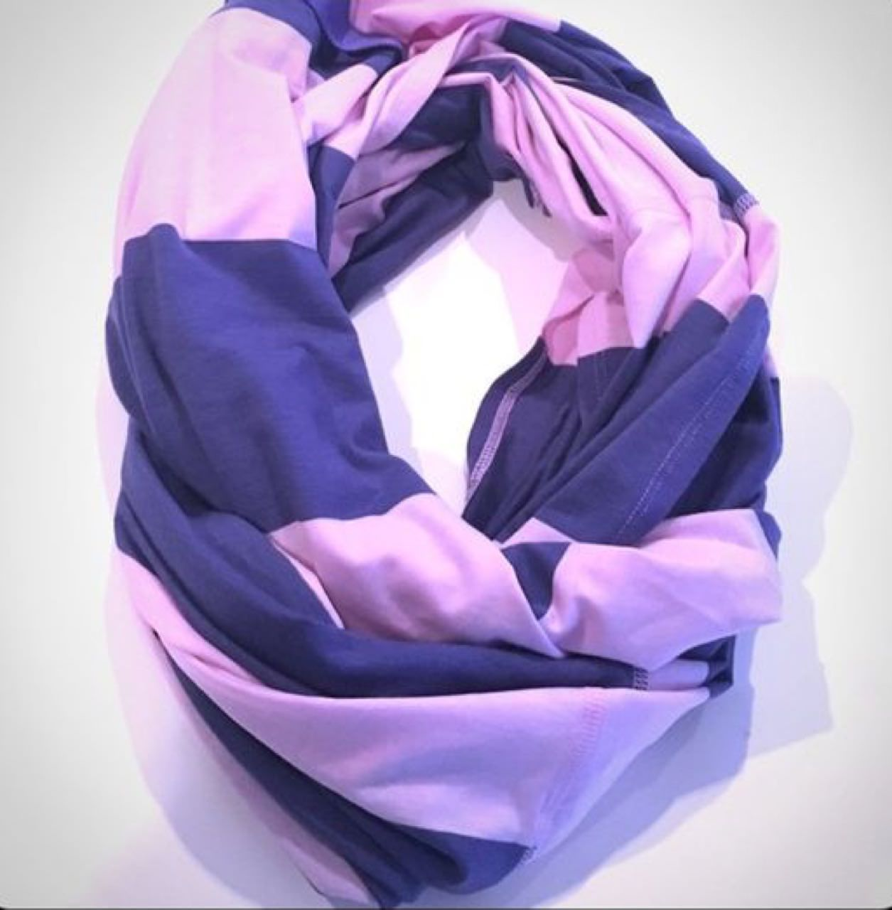 Lululemon Vinyasa Scarf *Vitasea - Bold Stripe Pretty Purple Stony Grape