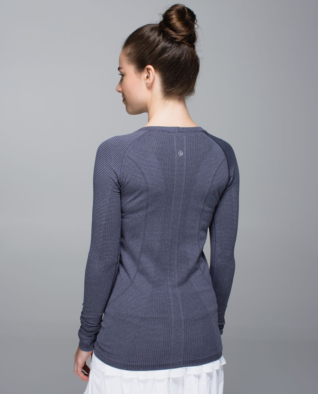 Lululemon Run:  Swiftly Tech Long Sleeve Scoop - Heathered Cadet Blue