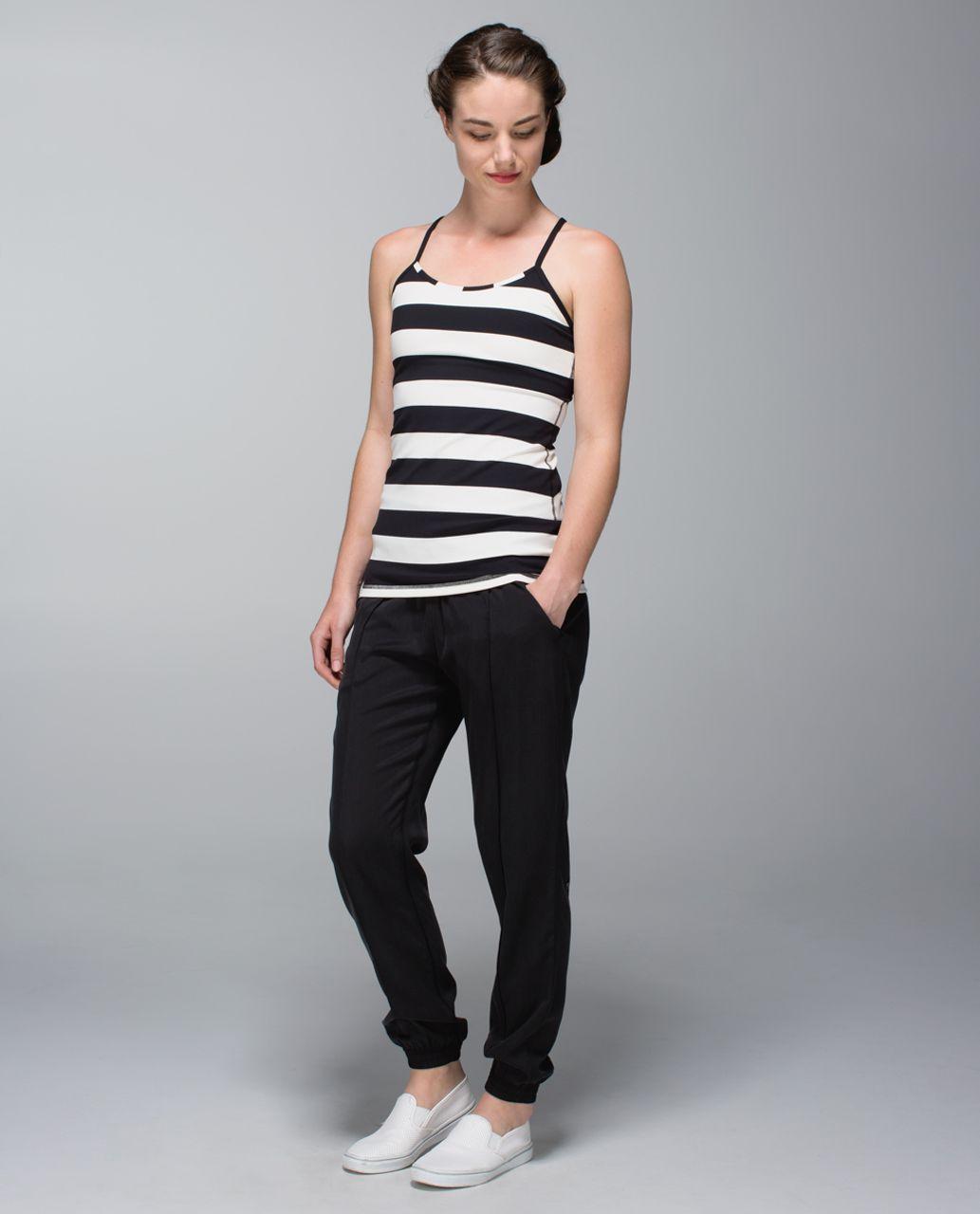 Lululemon Power Y Tank *Luon - Steep Stripe Black Horizontal / Black