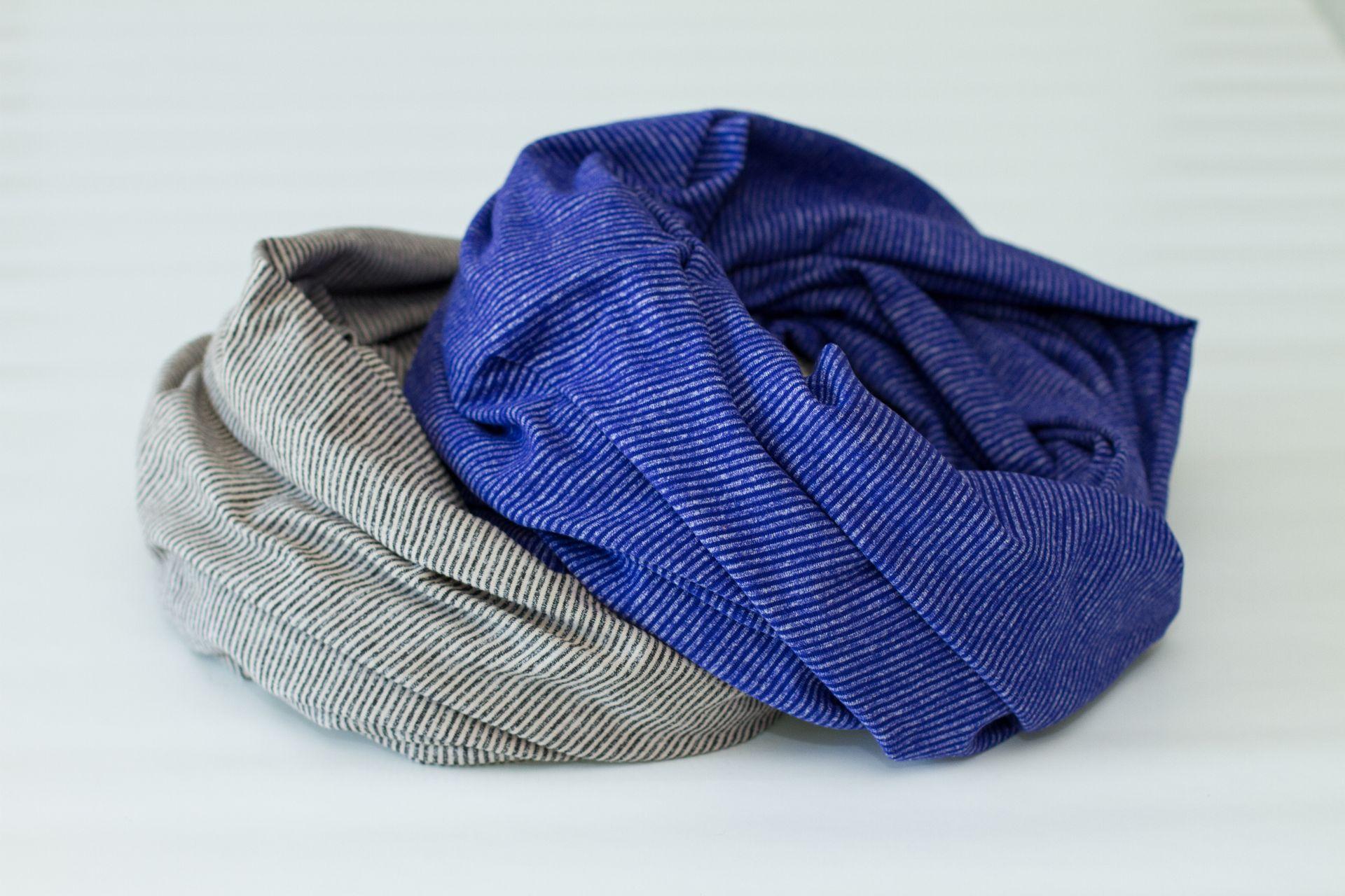 Lululemon Vinyasa Scarf *Rulu - Tonka Stripe Cashew / Heathered Black