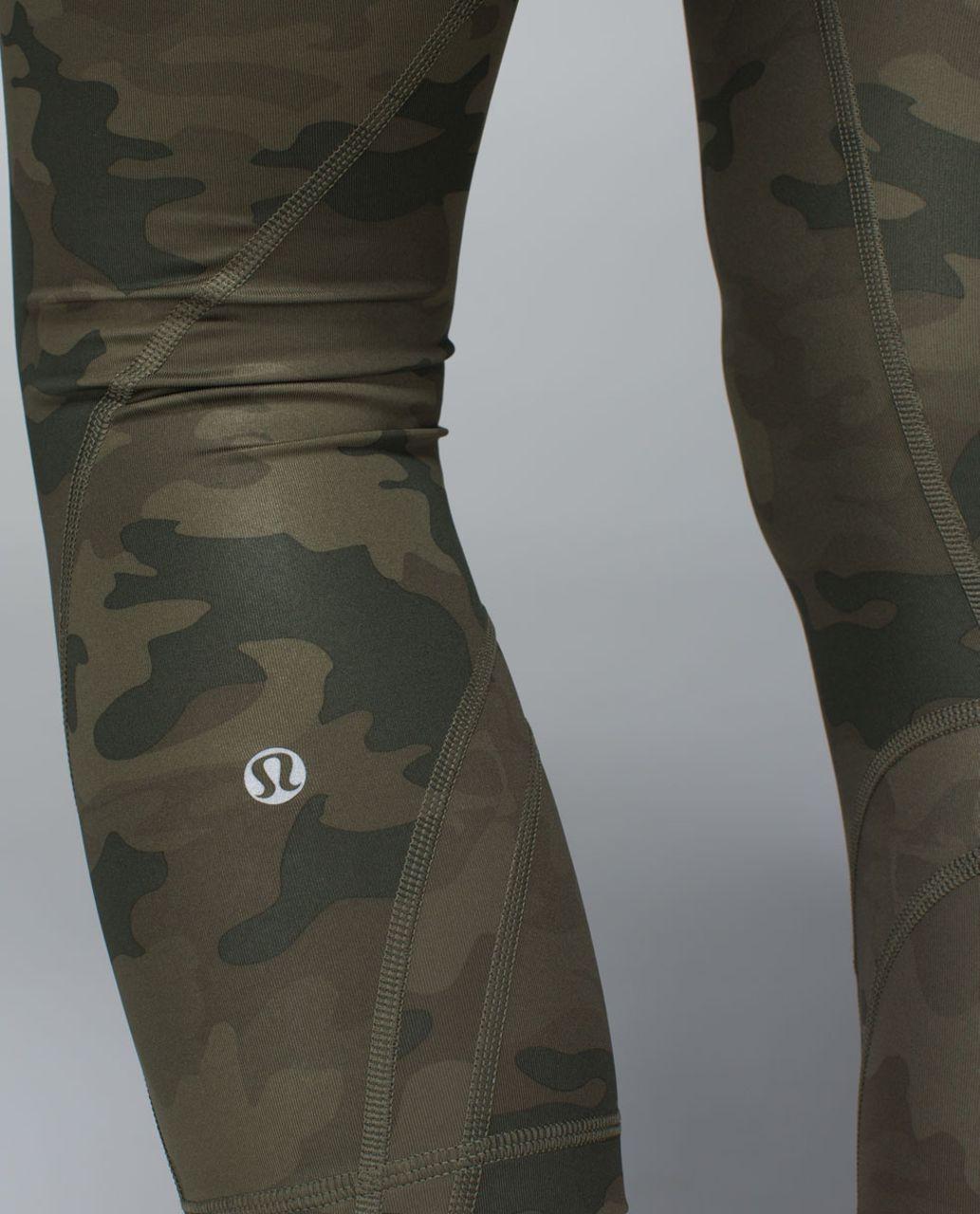 Lululemon Run:  Inspire Crop II *All Luxtreme - Savasana Camo 20cm Fatigue Green