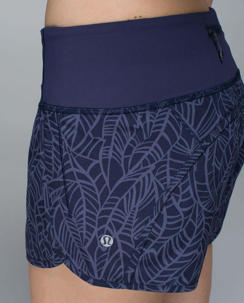 Lululemon Run Times Short *2-way stretch - Pretty Palm Cadet Greyvy / Cadet Blue