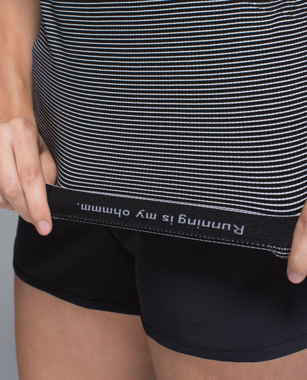 Lululemon Run:  Swiftly Tech Short Sleeve Scoop - Hyper Stripe Black