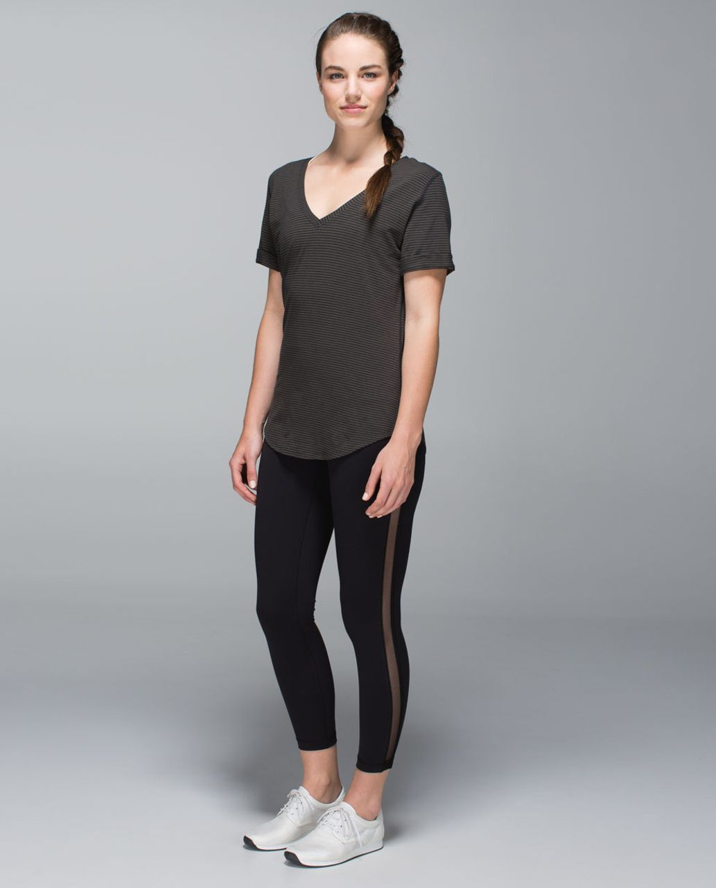 Lululemon Love Tee - Hyper Stripe Deep Camo Black