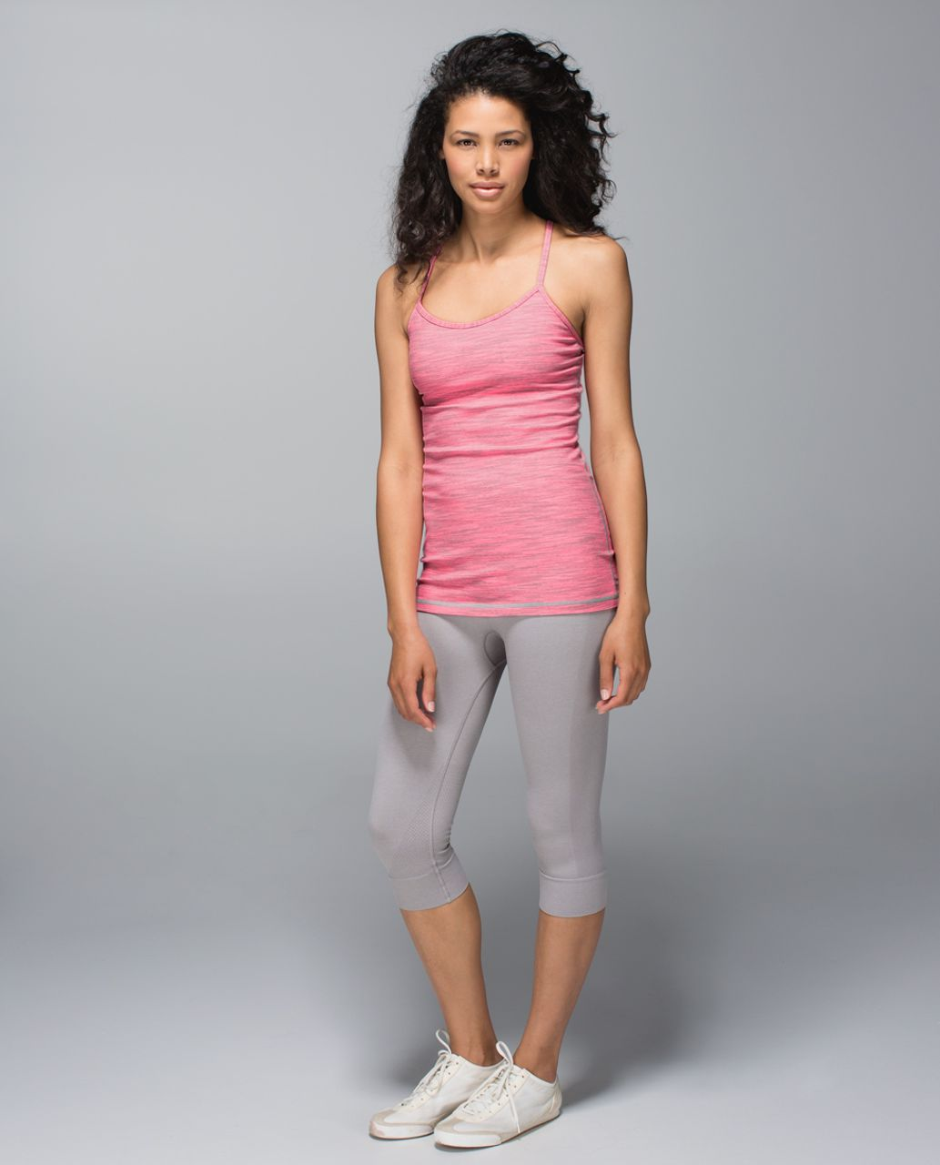 Lululemon Power Y Tank *Luon - Wee Are From Space Neon Pink Opal