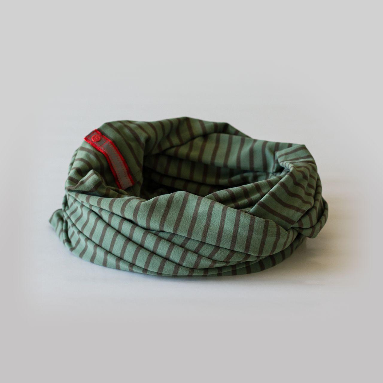 Lululemon Vinyasa Scarf *Rulu - Deenie Stripe Desert Olive Fatigue Green