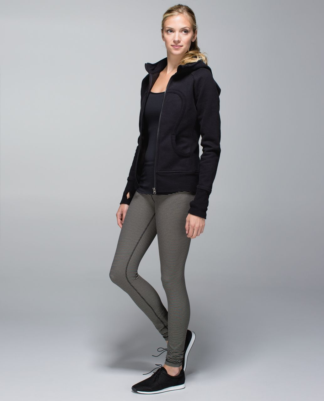 Lululemon Wunder Under Pant *Full-On Luon - Super Stripe Black Mojave Tan / Mojave Tan / Black