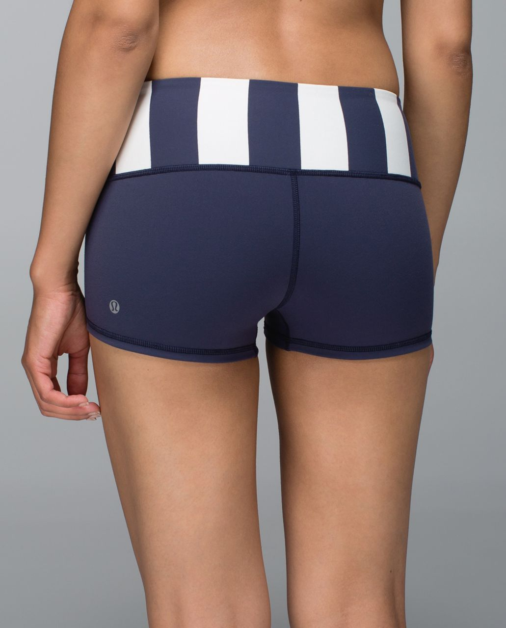Lululemon Boogie Short *Full-On Luon - Cadet Blue / Steep Stripe Cadet Blue Horizontal