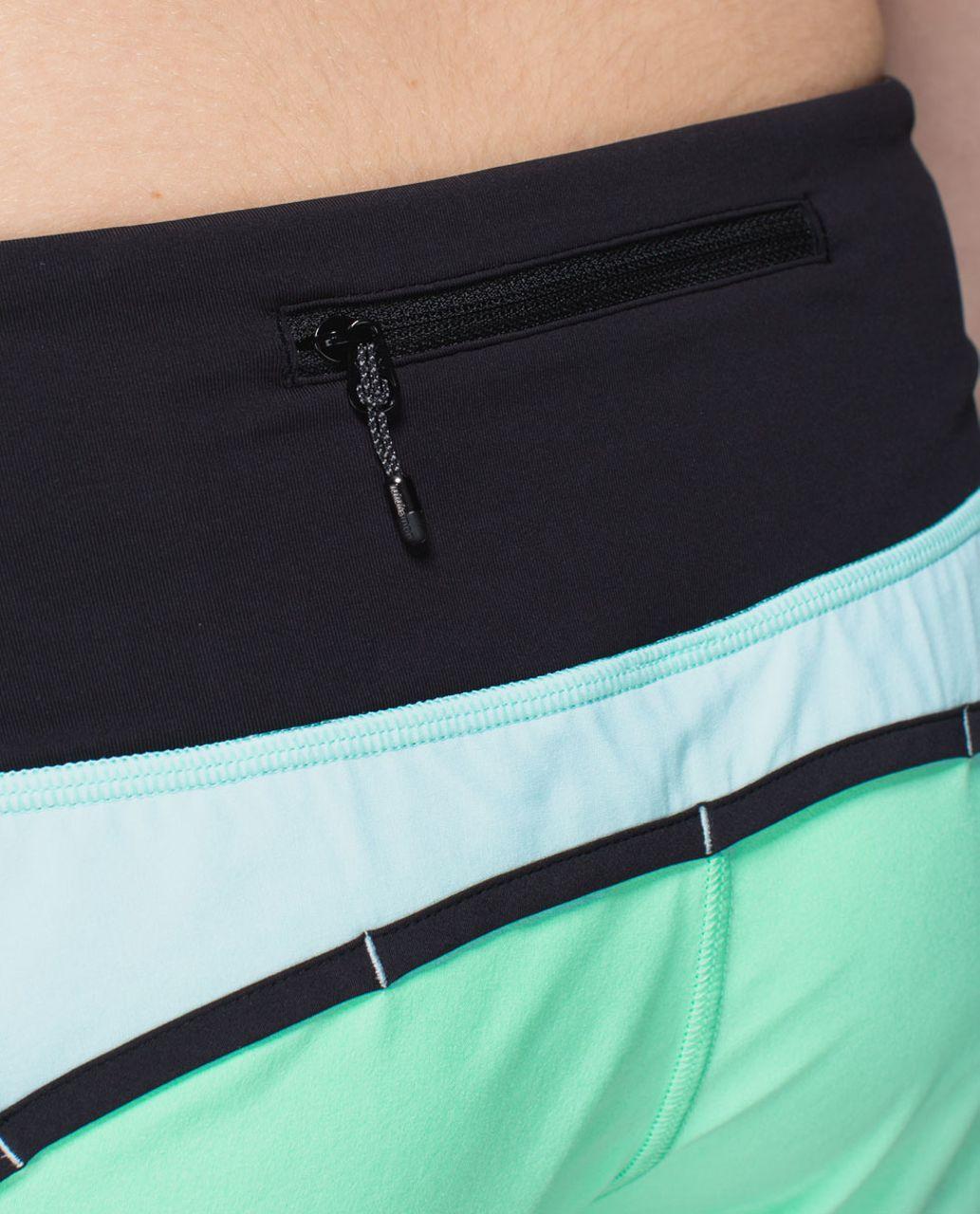 Lululemon Run Times Short *4-way stretch - Opal / Aquamarine / Black
