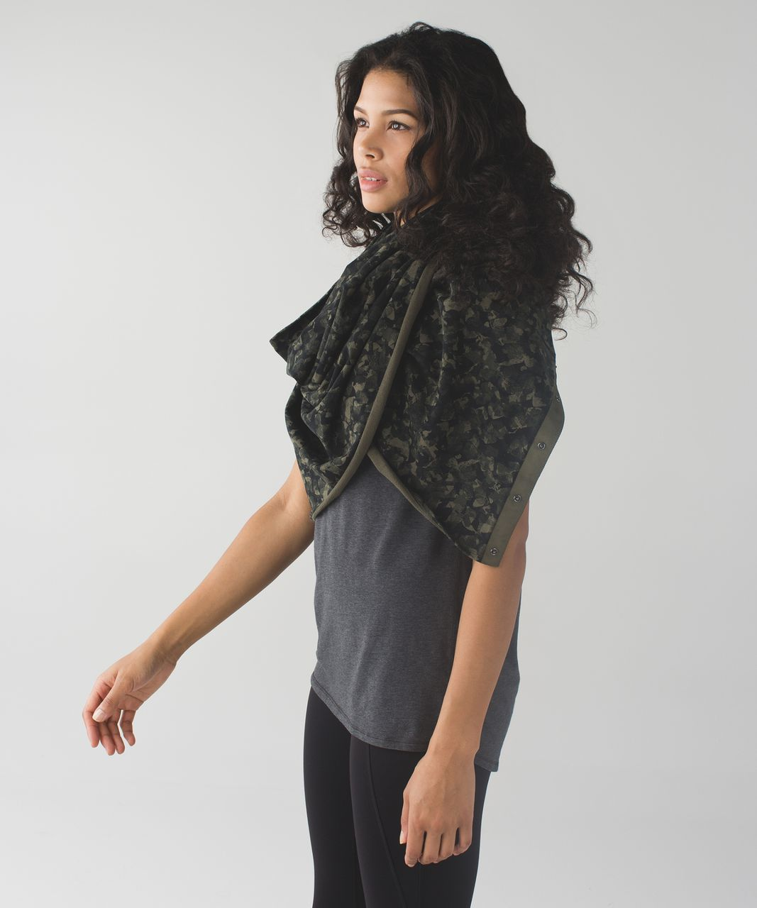 Lululemon Vinyasa Scarf *Cotton - Mystic Jungle Fatigue Green Black